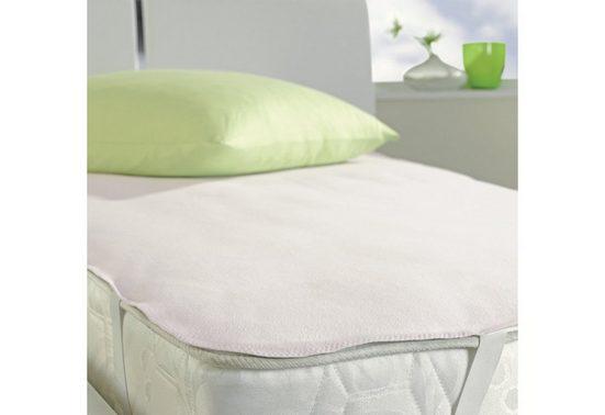Matratzenauflage »Pure Aktiv 5516«, IBENA, 0,5 cm hoch, Baumwolle, Wasserdicht, kochfest