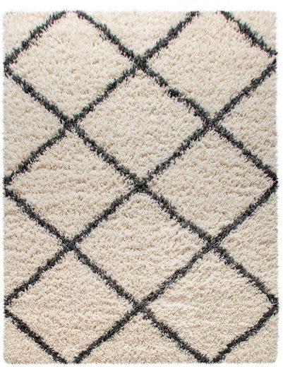 Hochflor-Teppich »Kalmarova«, Home affaire, rechteckig, Höhe 45 mm, sehr weicher Flor, Wohnzimmer