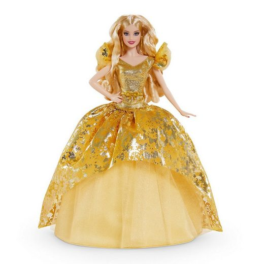 Mattel® Anziehpuppe »Barbie Signature Holiday Barbie Puppe (blond)«