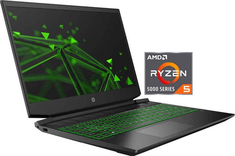 HP 15-ec2265ng Gaming-Notebook (39,6 cm/15,6 Zoll, AMD Ryzen 5 5600H, GeForce RTX™ 3050, 512 GB SSD, Kostenloses Upgrade auf Windows 11, sobald verfügbar)