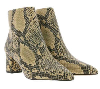 Kurt Geiger »KURT GEIGER Burlington Echtleder Ankle-Boots modische Damen Stiefelette im Animal-Look Boots Braun« Stiefelette