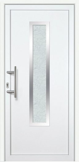 KM MEETH ZAUN GMBH Kunststoff-Haustür »K729P LS«, BxH: 98x198 cm, weiß, links