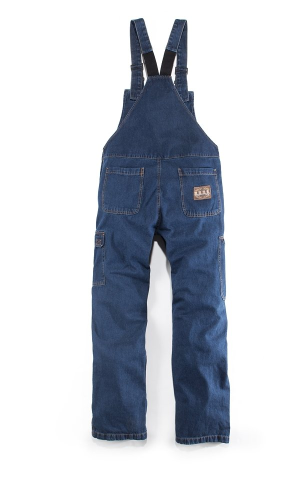 Jeanslatzhose in jeansblau