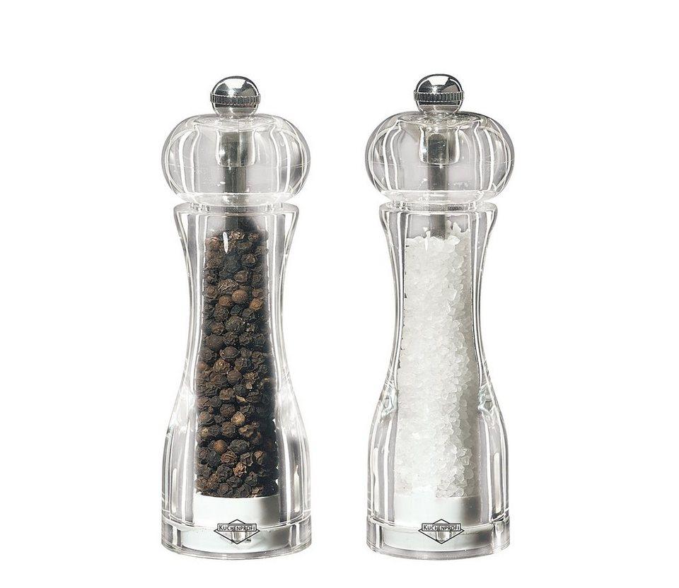 Küchenprofi Pfeffer- & Salzmühlen-Set »Toronto« in Transparent