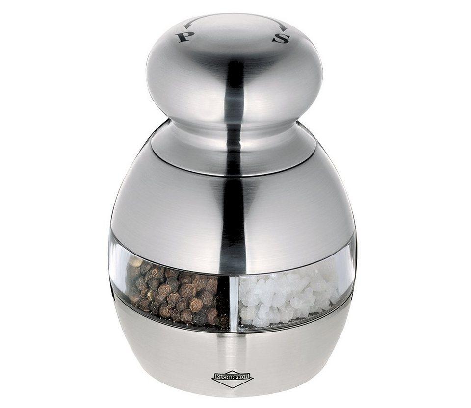 Küchenprofi 2in1 Pfeffer- und Salzmühle »Houston« in Silber