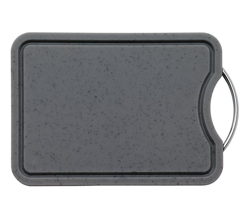 Küchenprofi Schneidbrett eckig mit Rille in Granit