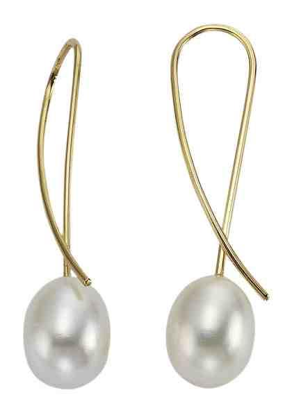 firetti Ohrschmuck: Paar Ohrhaken mit Perlen