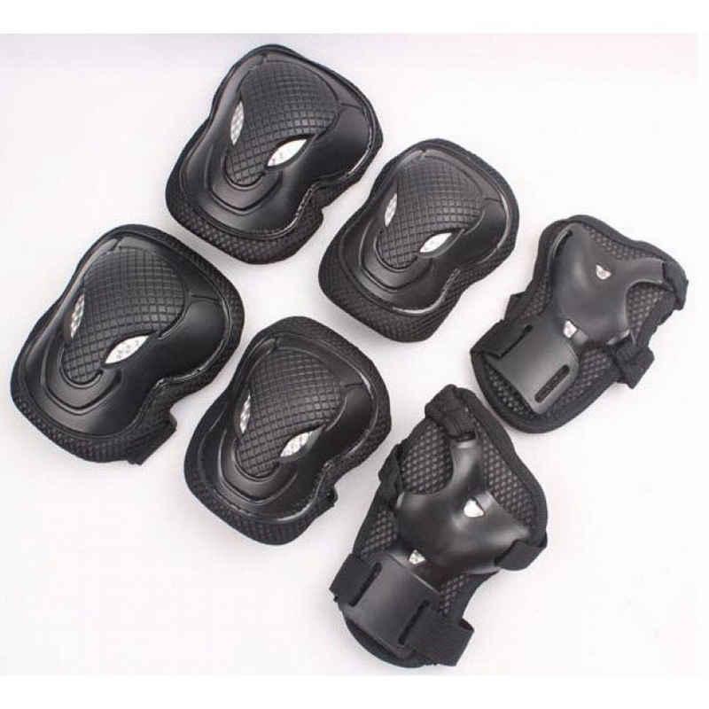Byox Kinder-Schutzausrüstung »Schutzausrüstung GS-P168-5«, schwarz Größe M 25 - 50 kg, 3-er Set, 6 Teile