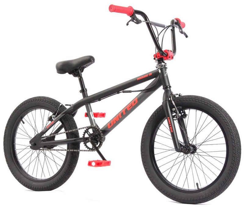 KHE BMX-Rad »KHE X UNITED ROOUSE schwarz-rot 11,65kg!«