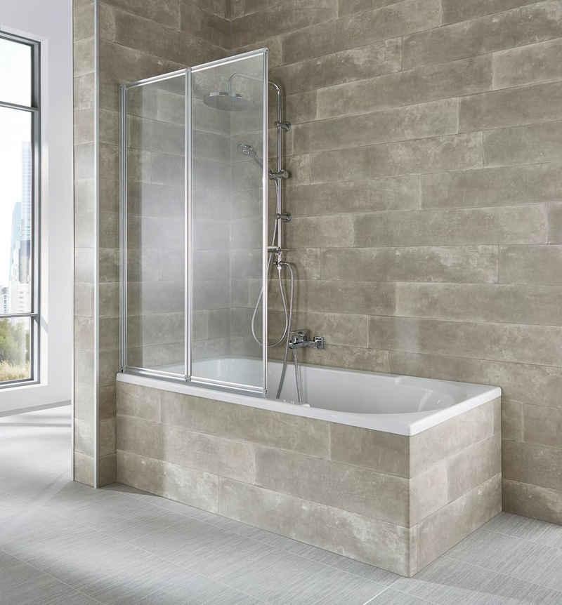 welltime Badewannenaufsatz »Nassau«, Einscheibensicherheitsglas, (2 tlg), weiß