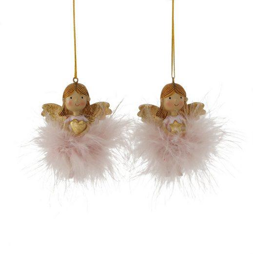 BOLTZE Dekohänger »Molly« (Set, 6 Stück), Engel mit Herz und Stern, Höhe ca. 7 cm