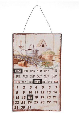 Ambiente Haus Metallschild »Metallbild Kalender - Bl...