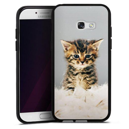 DeinDesign Handyhülle »Kitty« Samsung Galaxy A5 (2017), Hülle Katze Haustier Feder