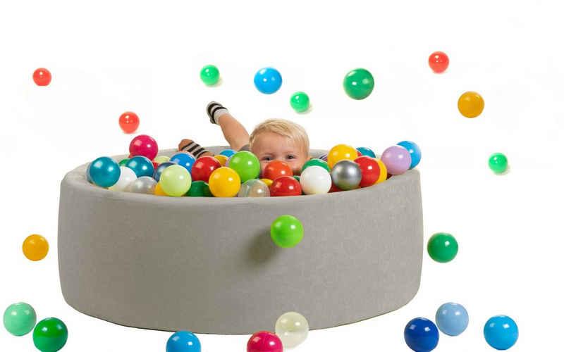 sunnypillow Bällebad-Bälle »sunnypillow Bällebad für Baby Kinder mit 200/400 bunten Bällen ∅ 7cm Bällepool 90∅ x H 30cm«