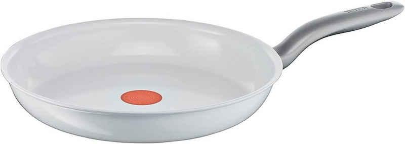 Tefal Bratpfanne »Ceramic Control«, Keramik (Keramikversiegelt für krosses Braten, Backofengeeignet bis 175 °C, ohne Antihaft, Induktionsherd geeignet, 1x 20 cm), hitzebeständiger Thermo Griff, Widerstandsfähigkeit gegen Kratzer