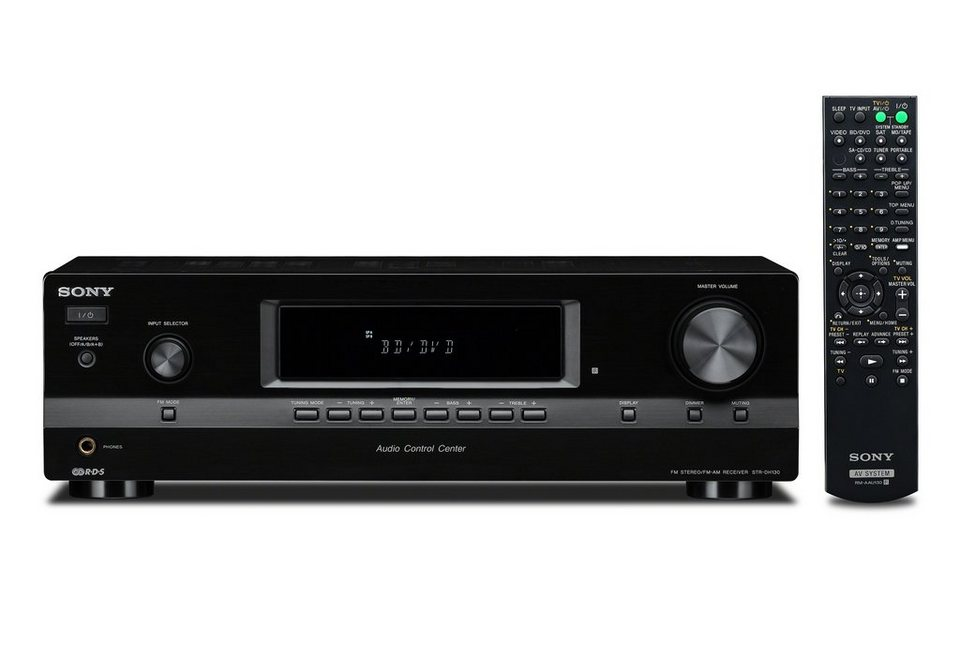 Sony STR-DH130 Stereoreceiver in schwarz