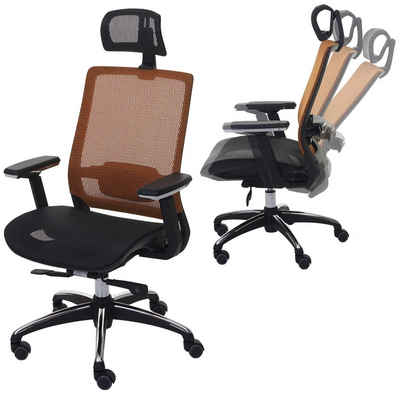 MCW Schreibtischstuhl »MCW-A20«, In der Tiefe verstellbare Sitzfläche, Lendenwirbelstütze anpassbar, 5 Hartbodenrollen