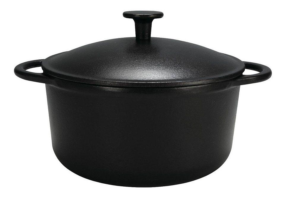 """Eisenguss Fleischtopf """"RUSTICA"""", Ø 24 cm in schwarz"""
