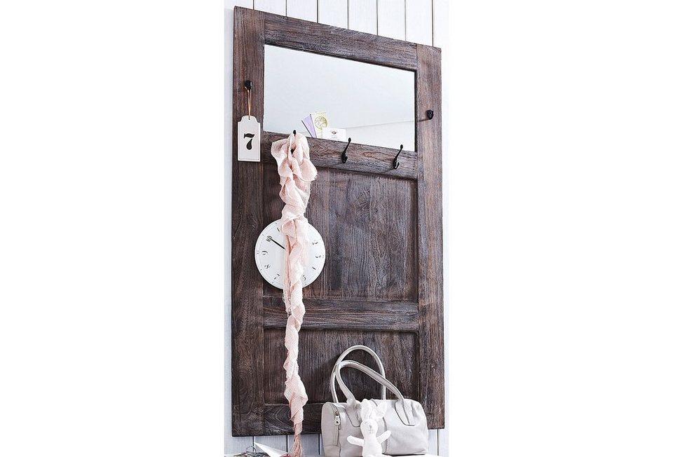 Home affaire garderobe used look mit spiegel otto for Garderobenpaneel spiegel