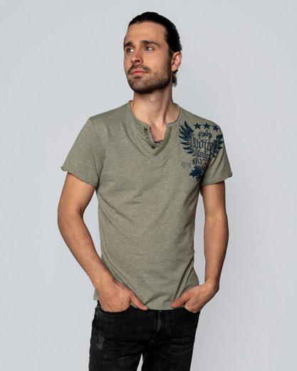 Key Largo T-Shirt mit großem Rückenprint