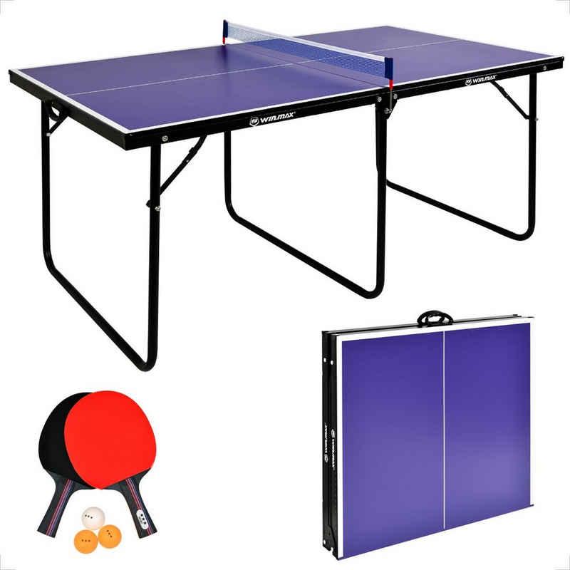 WIN.MAX Tischtennisplatte »WIN.MAX Tischtennisplatte Inklusive einem Paar Tischtennisschläger und 3 Tischtennisbällen, Klappbare Tischtennistisch mit Netz, TT-Platte für Indoor«