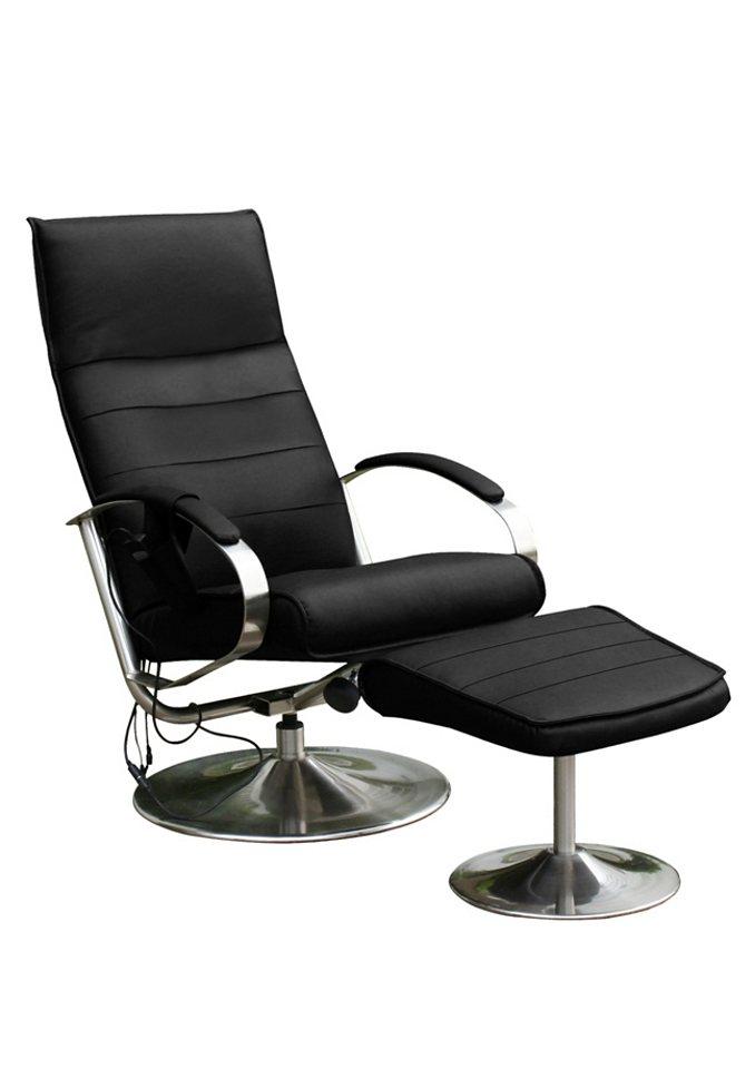 Massagesessel, Alpha Techno, mit Hocker | Wohnzimmer > Sessel > Massagesessel | Kunstleder | Alpha Techno