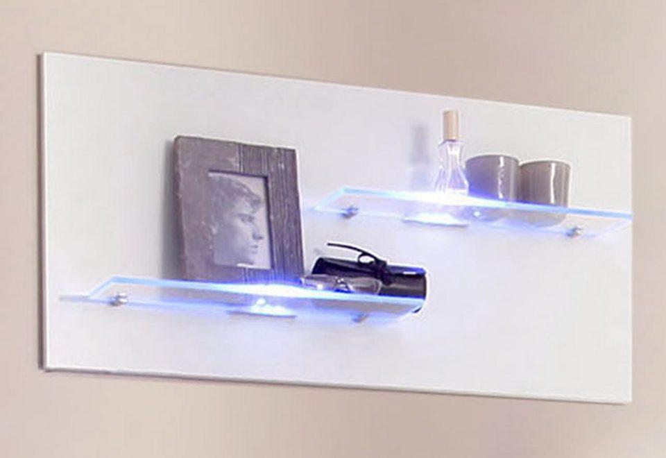 Wandregal mit 2 Glasböden, Made in Germany