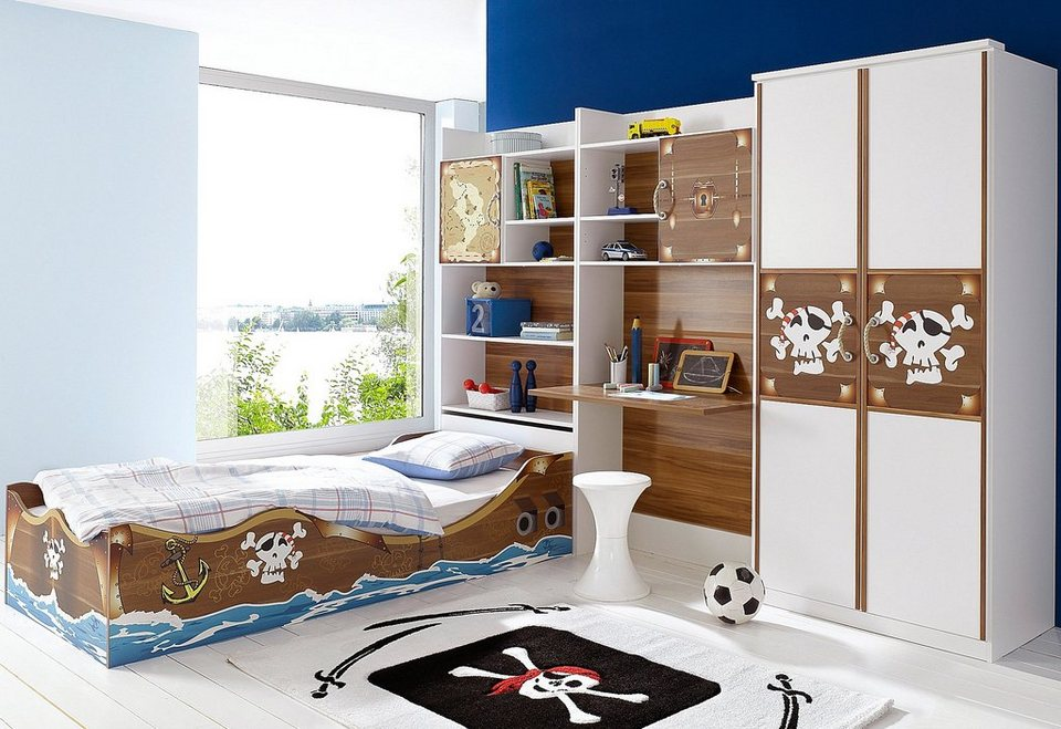 kinderzimmer junge pirat. Black Bedroom Furniture Sets. Home Design Ideas