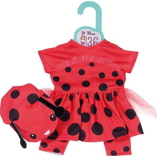 Zapf Creation® Puppenkleidung »Dolly Moda Süßes Marienkäfer Outfit 36 cm«