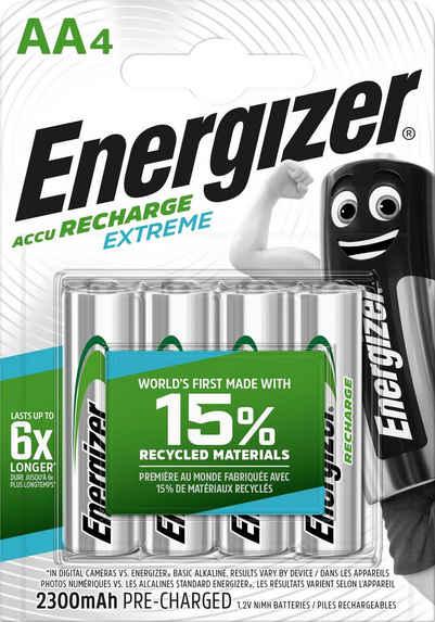Energizer »Extreme« wiederaufladbare Batterien, LR06 (1,2 V, 4 St)