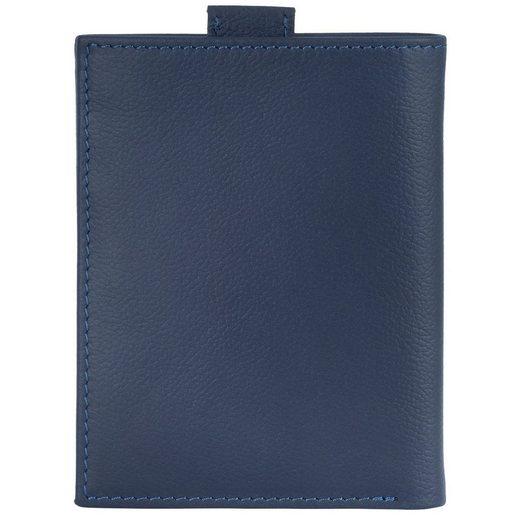 VON HEESEN Mini Geldbörse »Slim Wallet mit 15 Kartenfächern (blau)«