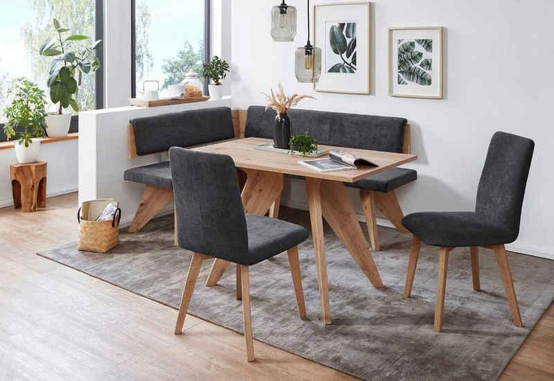 SCHÖSSWENDER Eckbankgruppe »Maia«, (4-tlg), Eckbank ist umstellbar, Tisch mit Auszug