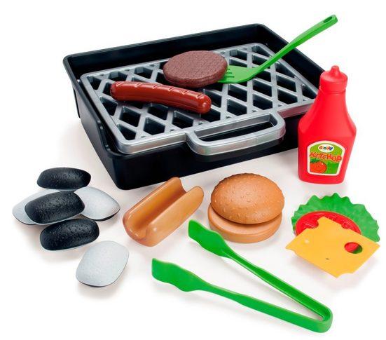 dantoy Kinder-Grill »Dantoy 4600 BBQ Burger und Hotdog Set Spielzeug Grill Spiel-Essen Kinder-Küche«, (Set, 19-tlg), Made in Denmark