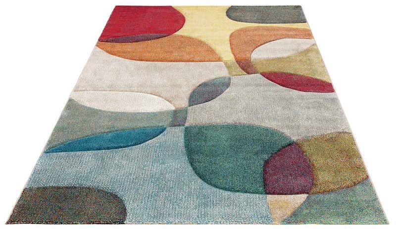 Teppich »Liva«, my home, rechteckig, Höhe 13 mm, Hoch-Tief-Effekt, Wohnzimmer