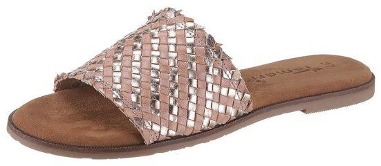 Tamaris »Crusy« Pantolette mit breiter Bandage