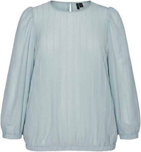 Vero Moda Curve Klassische Bluse mit schimmernden Streifen
