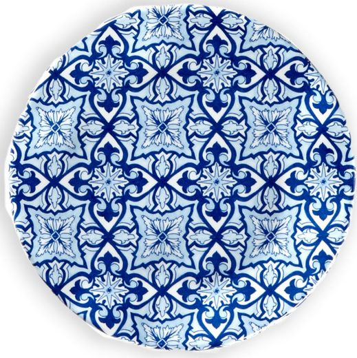 Q Squared NYC Kuchenteller »Talavera Collection«, (4 Stück), Ø 14 cm, Melamin