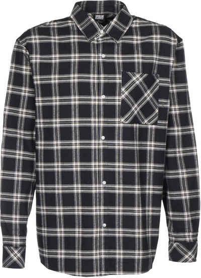 URBAN CLASSICS Langarmhemd »Oversized Check«