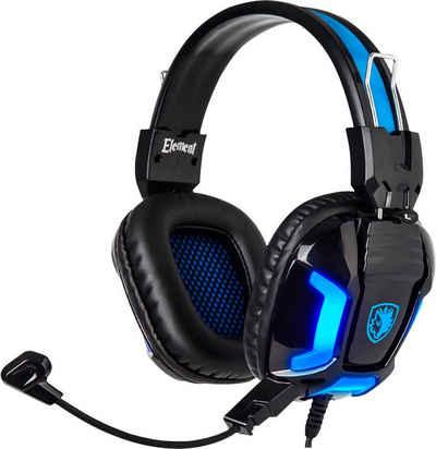 Sades »Element SA-702« Gaming-Headset (blaue LED Beleuchtung)
