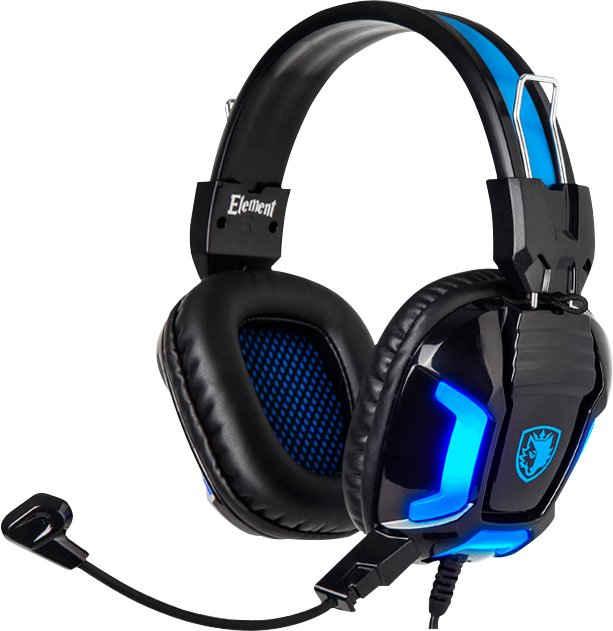 Sades »Element SA-702« Gaming-Headset (kabelgebunden, Kompatibel mit PC, PS4, PS5, Xbox One, Xbox Series X/S und Nintendo Switch)