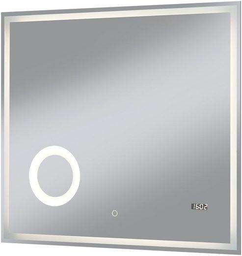 Badspiegel »Flex«, 80 x 70 cm, umlaufende LED-Beleuchtung