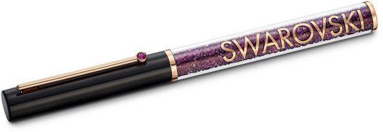 Swarovski Kugelschreiber »Crystalline Gloss, Schwarz und Lila, Rosé vergoldet, 5568758«