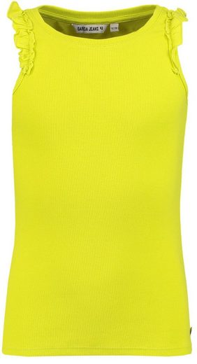 Garcia T-Shirt Top mit Rüschen flashy lime