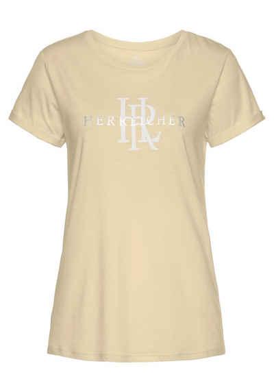 Herrlicher T-Shirt »KENDALL« mit silberfarbigem Logo-Statement Foile-Print