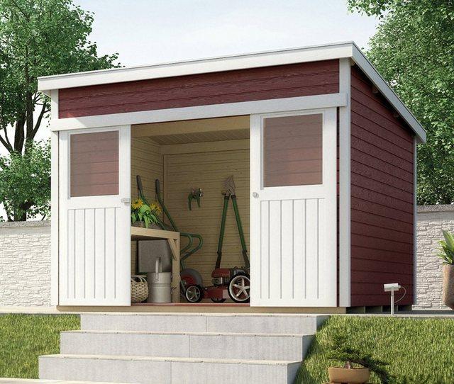 Weka Holz-Gartenhaus Turin A Schwedenrot 295 cm x 209 cm