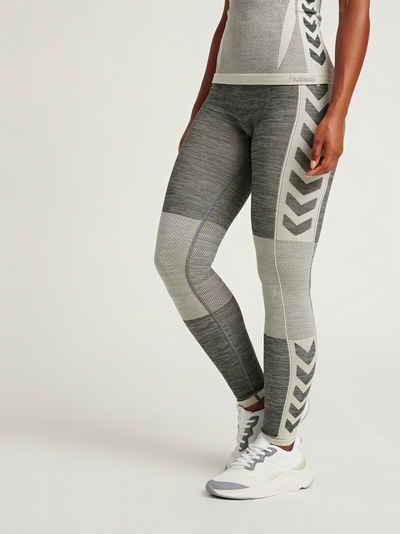 hummel Sporthose Hummel CLEA TIGHTS Damen Leggings nahtlos grau Yoga Sportlegging Sporthose Sport
