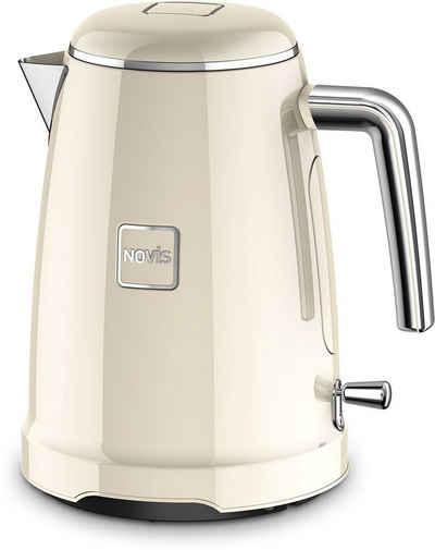 NOVIS Wasserkocher K1 creme, 1,6 l, 2400 W, Metallgehäuse