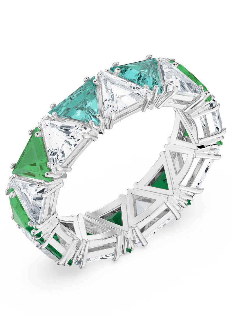 Swarovski Fingerring »Millenia Cocktail Ring, Kristalle im Triangle Schliff, 5610733,5608532/-0765/-8531,5610398, 5610734,5608530/-0760/-8529,5610399«, mit Swarovski® Kristall