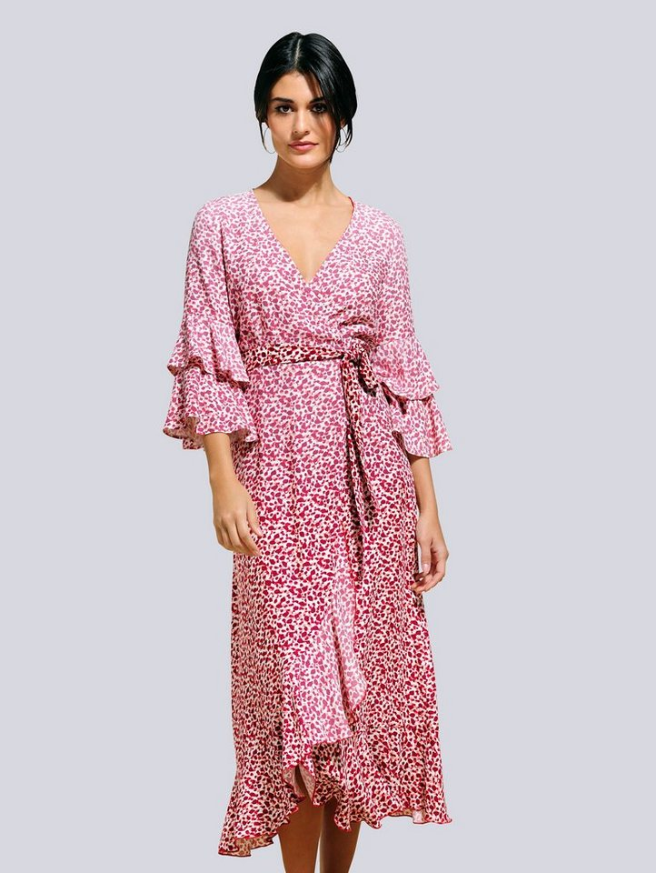 alba moda kleid in topaktueller wickeloptik kaufen | otto