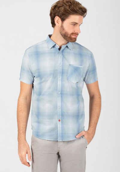 TIMEZONE Kurzarmhemd »Fading Check Shirt«